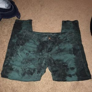 American Eagle Tie Dye Jeggings
